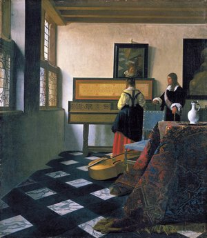 Jan Vermeer Van Delft - The Music Lesson 1662-1665