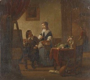 Jan Vermeer Van Delft - In the artist's studio