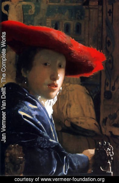 Jan Vermeer Van Delft - Girl With A Red Hat