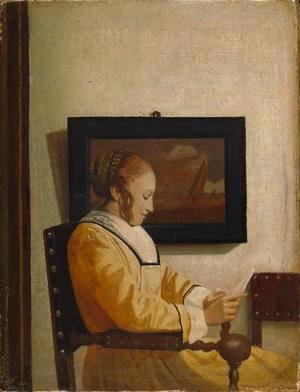 Jan Vermeer Van Delft - A Young Woman Reading